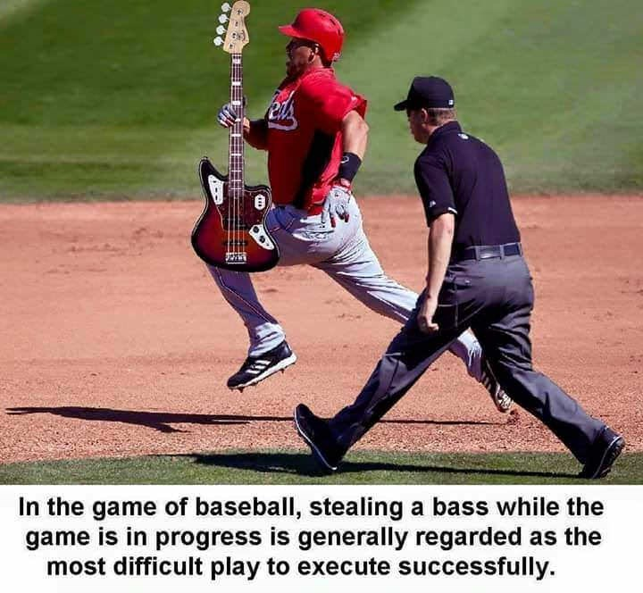 Baseball player - In the game of baseball, stealing a bass while the game is in progress is generally regarded as the most difficult play to execute successfully