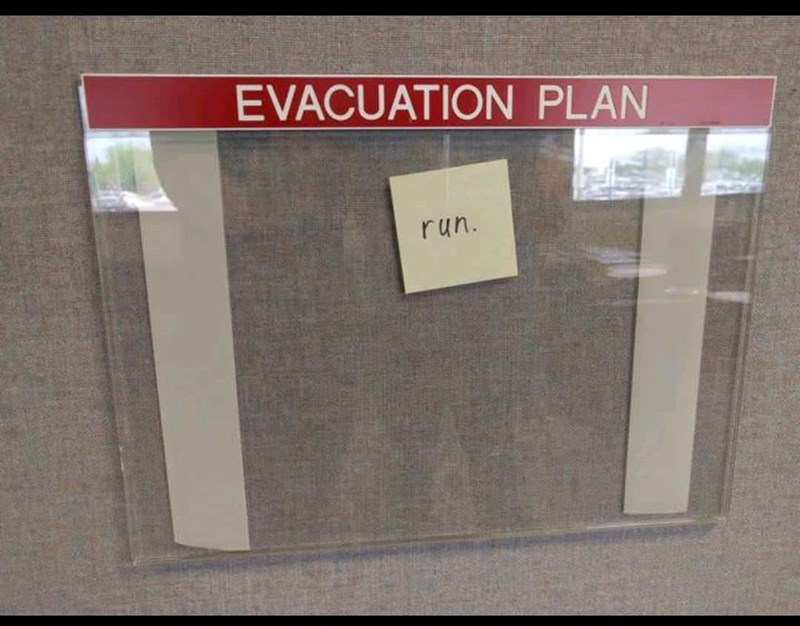 Text - EVACUATION PLAN run.