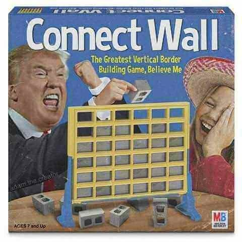 Games - Connect Wall The Greatest Vertical Border Building Game, Believe Me am ine.crato MB AGES 7 and Up