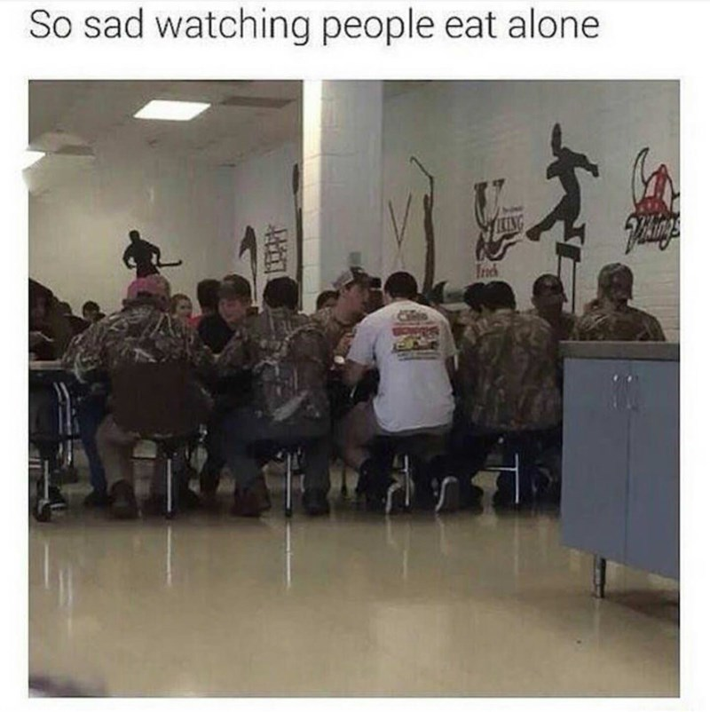Event - So sad watching people eat alone LIN
