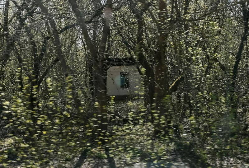 Abandoned Chernobyl house in Zalesye because it was included in the Chernobyl exclusion zone