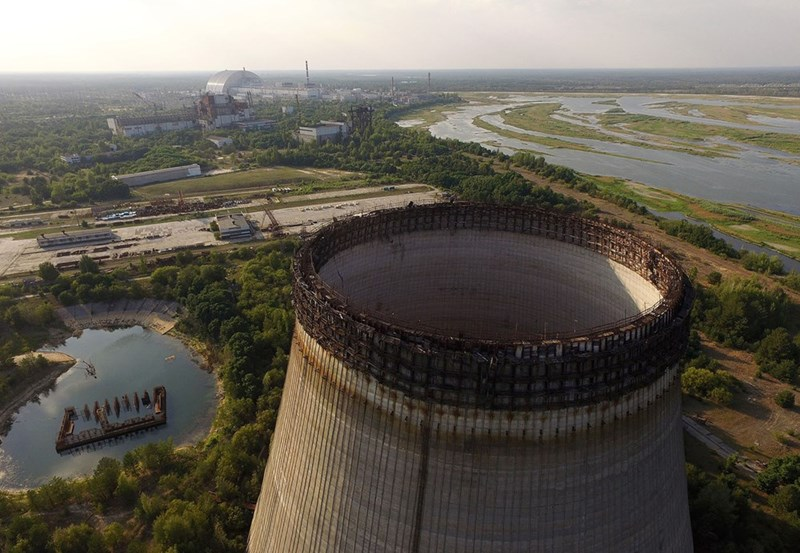 Chernobyl abandoned cooling tower
