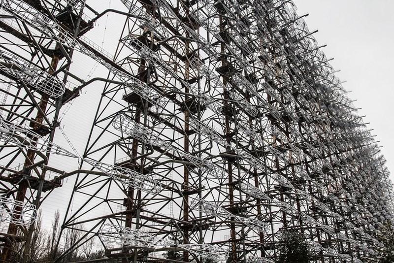 Soviet era DUGA radar left in the Chernobyl exclusion zone
