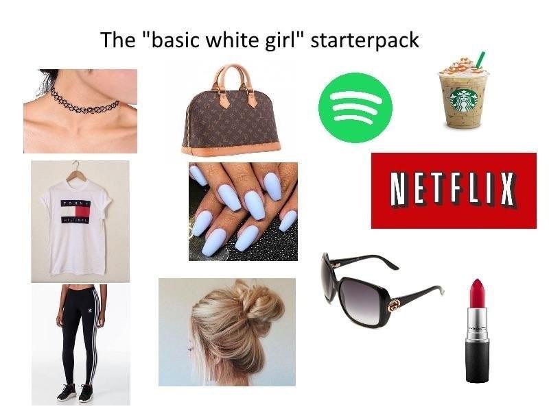 Starter pack for a basic white girl