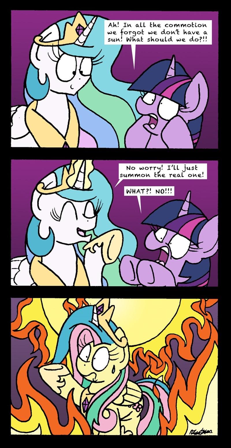 horse play bob the dalek twilight sparkle comic princess celestia fluttershy - 9157010944