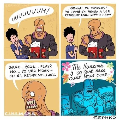cosplay de resident evil equivocado
