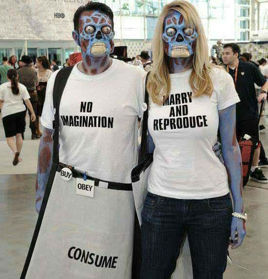 Costume - HBO MARRY AND REPRODUCE NO MAGINATION BUY OBEY CONSUME