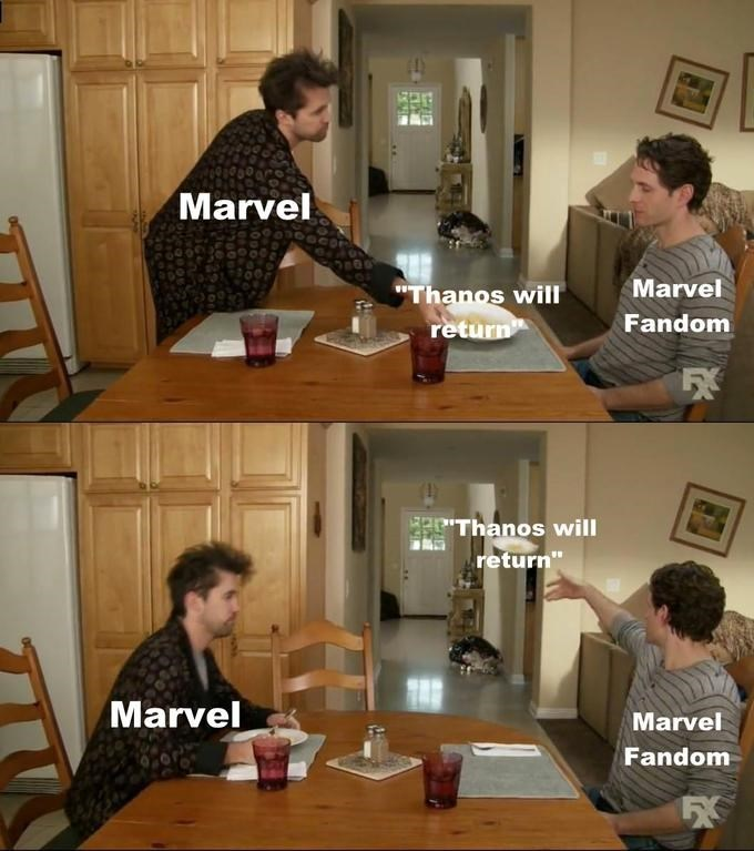 "Furniture - Marvel Marvel ""Thanos will return Fandom EThanos will return"" Marvel Marvel Fandom"