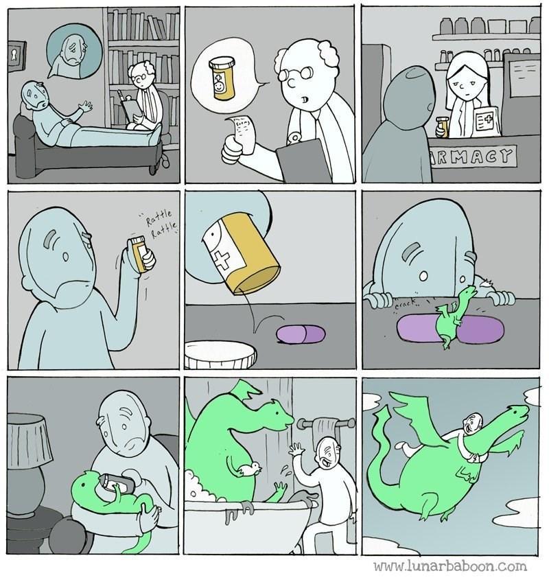 forma en como funcionan las drogas para la cabeza