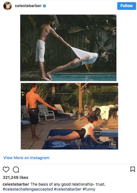 Website - celestebarber Follow View More on Instagram 321,249 likes celestebarber The basis of any good relationship- trust #celestechallengeaccepted #celestebarber #funny