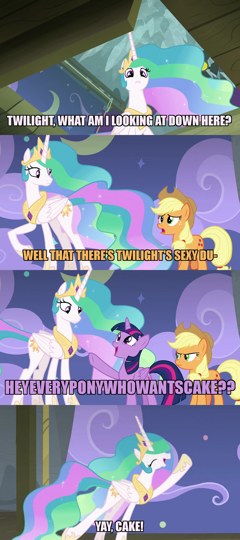 horse play applejack twilight sparkle screencap comic princess celestia - 9157979648