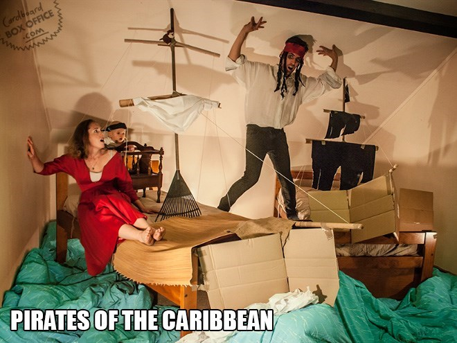 Room - Cardboard BOX OFFICE COM PIRATESOFTHE CARIBBEAN