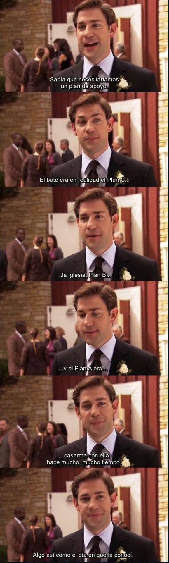 cuando jim de the office cuenta su plan de matrimonio