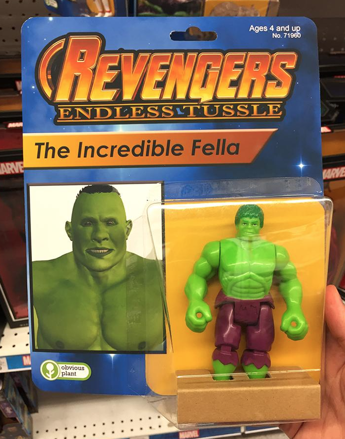Toy - Ages 4 and up No. 71960 CREVENGERS ENDLESS TUSSLE The Incredible Fella ARVE ARVE M obvious plant VEL