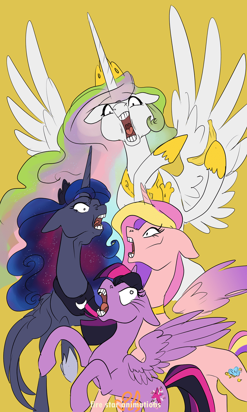 princess cadence fire star animations twilight sparkle princess luna princess celestia - 9158461184