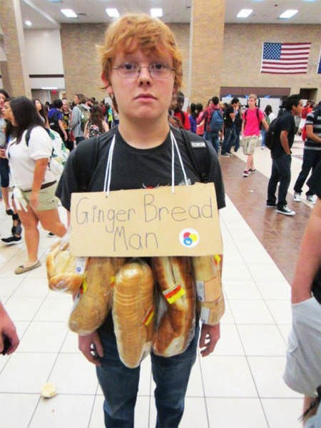 funny cosplay pun - Costume - Ginger Bread Man