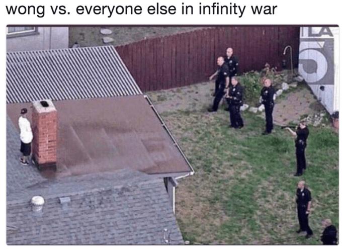 Adaptation - wong vs. everyone else in infinity war 5