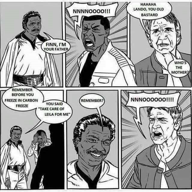 """Cartoon - НАНАНА LANDO, YOU OLD NNNNOO0O!!! BASTARD FINN, I'M YOUR FATHER WHO'S THE МOTHER REMEMBER BEFORE YOU NNNOOOOOO!!!! FREEZE IN CARBON REMEMBER? YOU SAID """"TAKE CARE OF LEILA FOR ME FREEZE"""