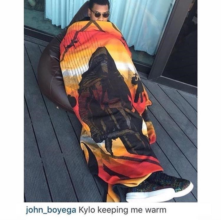 Orange - john_boyega Kylo keeping me warm