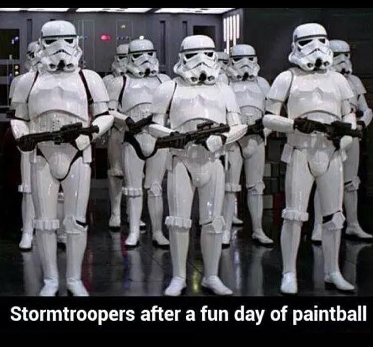 Team - Stormtroopers after a fun day of paintball