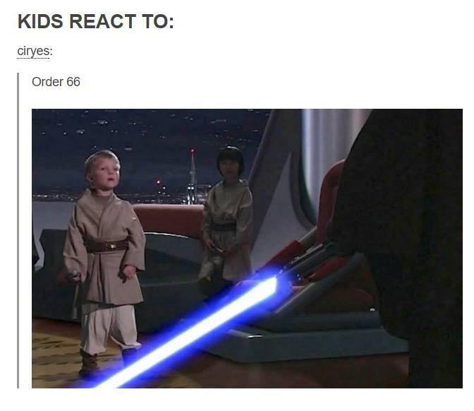 Obi-wan kenobi - KIDS REACT TO: ciryes: Order 66