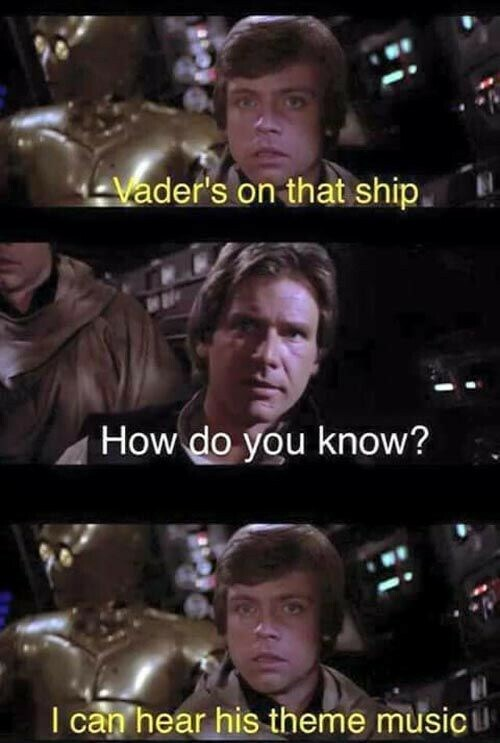 Photo caption - Vader's on that ship How do you know? I can hear his theme music u