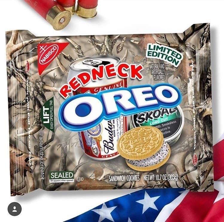 Funny meme about redneck oreos.