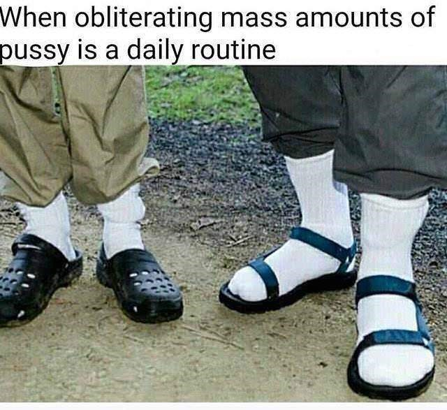 Footwear - When obliterating mass amounts of pussy is a daily routine