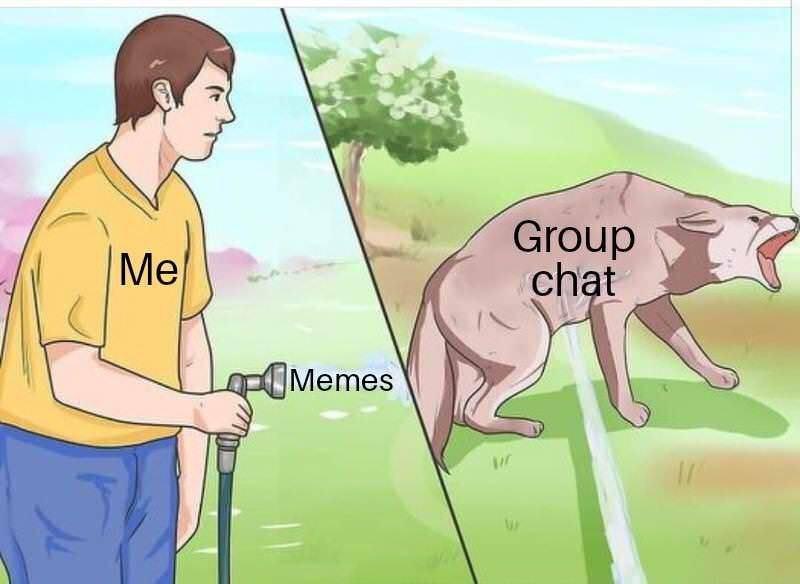 Cartoon - Group chat Me Memes