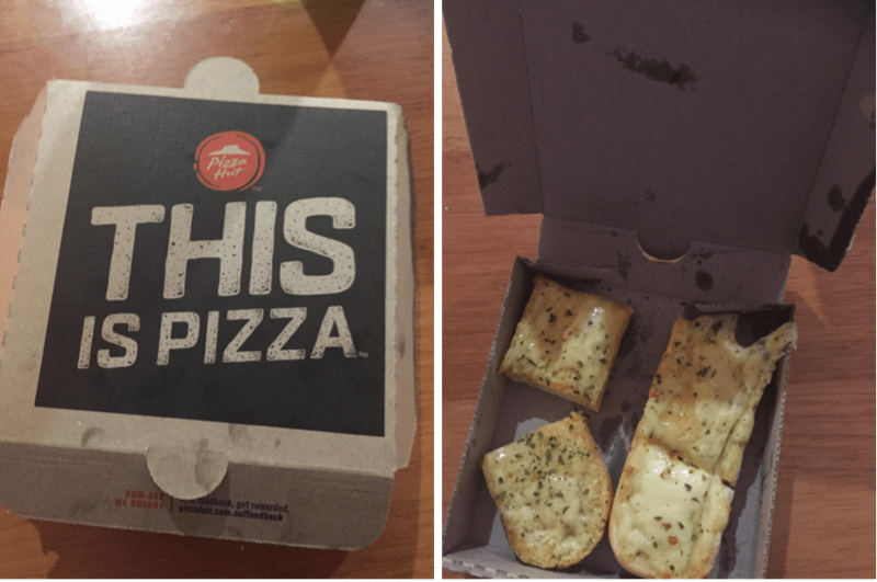 Snack - Pizza Hut THIS IS PIZZA NOW ARE WE OINS adback, get rousrded pizzaht.com.aualfeedback