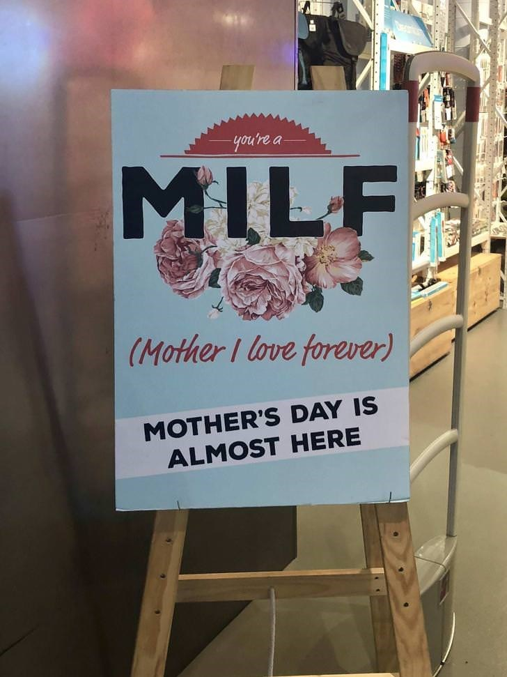 Text - you're a MILF (Mother I love forever) MOTHER'S DAY IS ALMOST HERE
