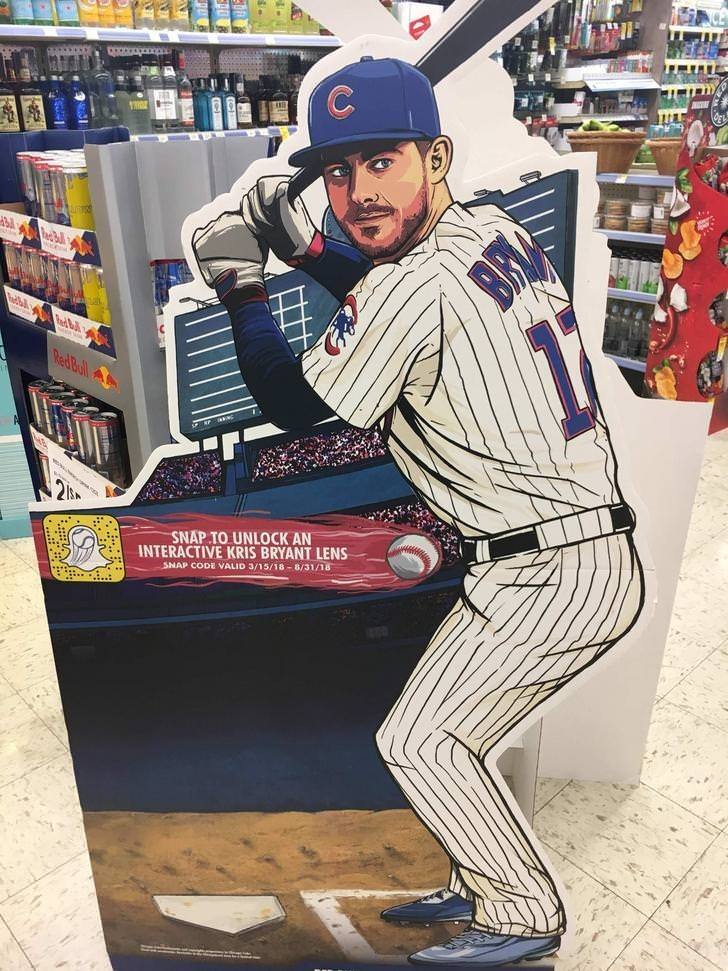 Baseball uniform - ১৯৯ RedBull INTERACTIVE KRIS BRYANT LENS SNAP CODE VALID 3/15/18-8/31/18 SNAP TO UNLOCK AN