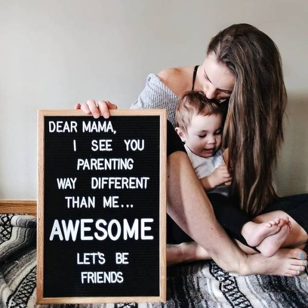 Product - DEAR MAMA, ISEE YOU PARENTING WAY DIFFERENT THAN ME... AWESOME LETS BE FRIENDS