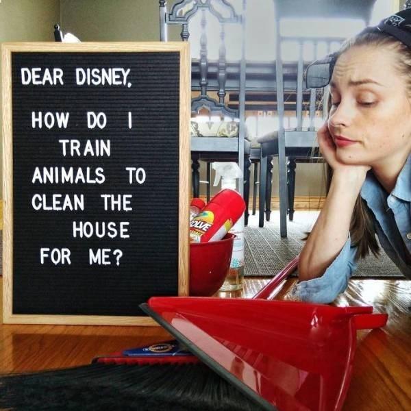 Job - DEAR DISNEY HOW DO TRAIN ANIMALS TO CLEAN THE LVE HOUSE FOR ME?
