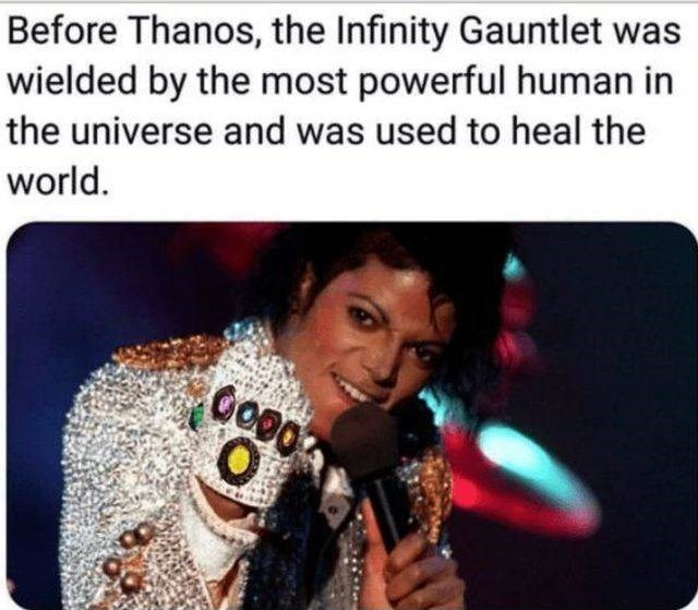 Text - Before Thanos, the Infinity Gauntlet was wielded by the most powerful human in the universe and was used to heal the world.