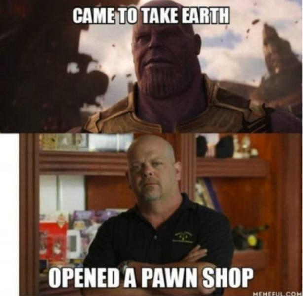 Photo caption - CAME TO TAKE EARTH OPENED A PAWN SHOP MEMEFUL COM