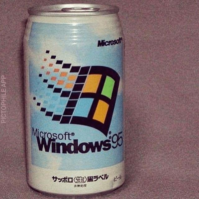 cursed images - Beverage can - Microsolt Microsoft Windows サッポロ(生)黒ラベル PICTOPHILE APP