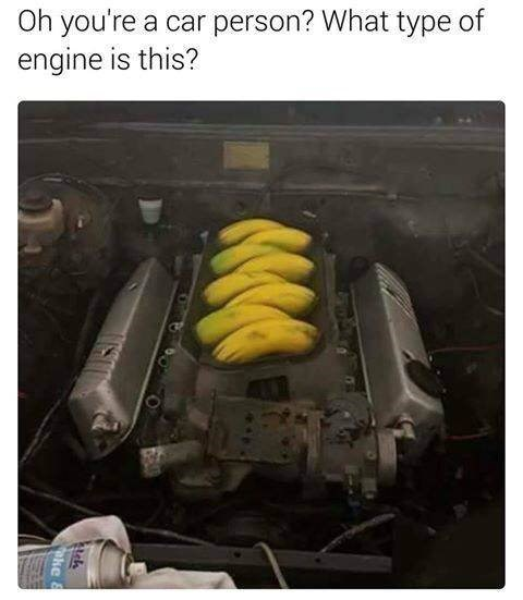 meme - Motor vehicle - Oh you're a car person? What type of engine is this? oke
