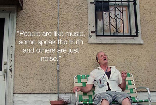 """Sitting - """"People are like music, some speak the truth and others are just noise."""