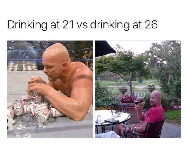 Water - Drinking at 21 vs drinking at 26