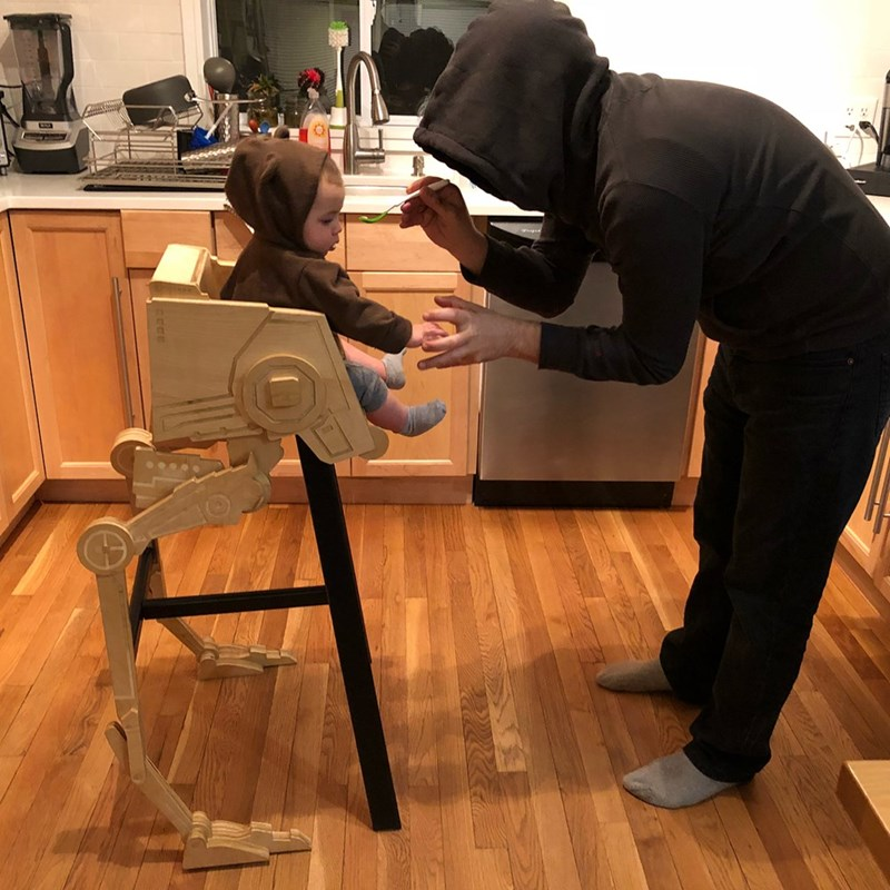 Cool Dad Builds Star Wars Inspired Furniture For His Baby And It S