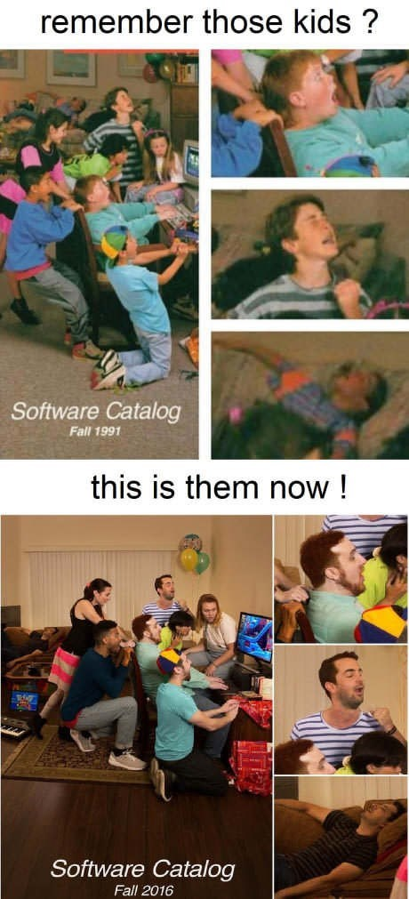 Youth - remember those kids? Software Catalog Fall 1991 this is them now! Software Catalog Fall 2016