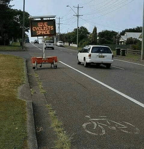 Vehicle - GIVE CYCLISTS SPACE