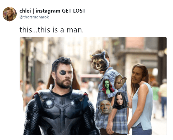 Fictional character - chlei instagram GET LOST @thorsraqnarok this...this is a man