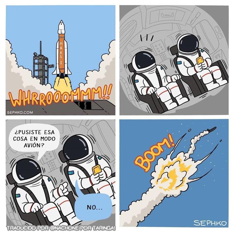 modo avion astronautas comic de SephkoComics