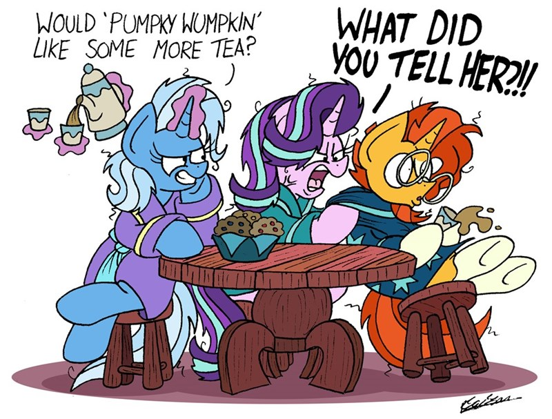 the great and powerful trixie the parent map sunburst bob the dalek starlight glimmer - 9162214656