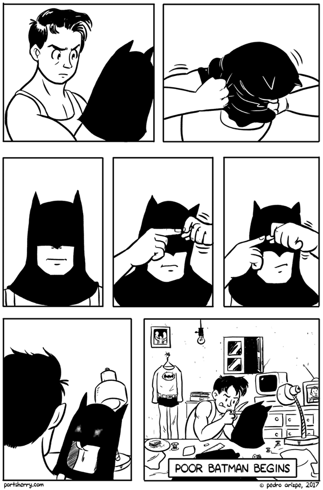 vinetas sobre cuando es batman version pobre