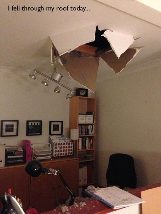 Ceiling - I fell through my roof today...