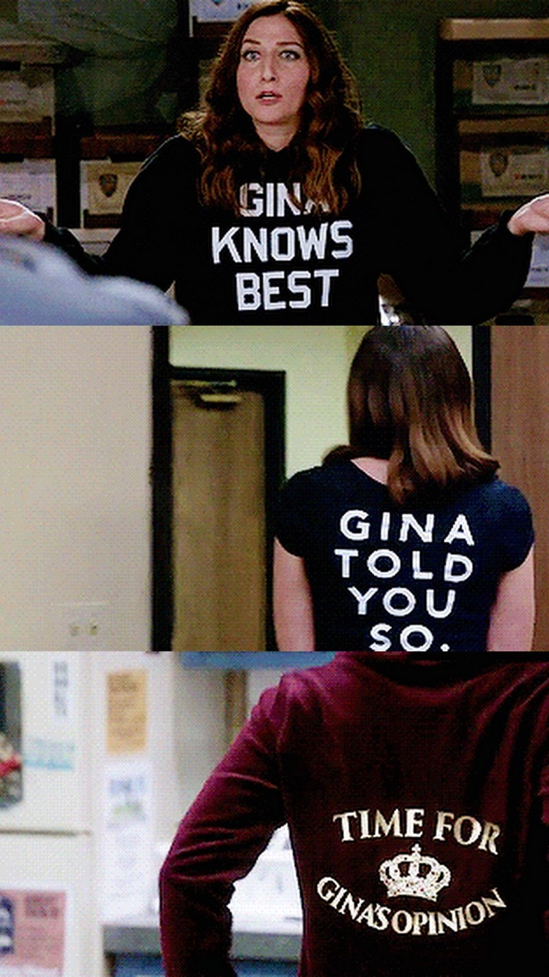 Clothing - GINA KNOWS BEST GINA TOLD YOU SO. TIME FOR GINASOPINION