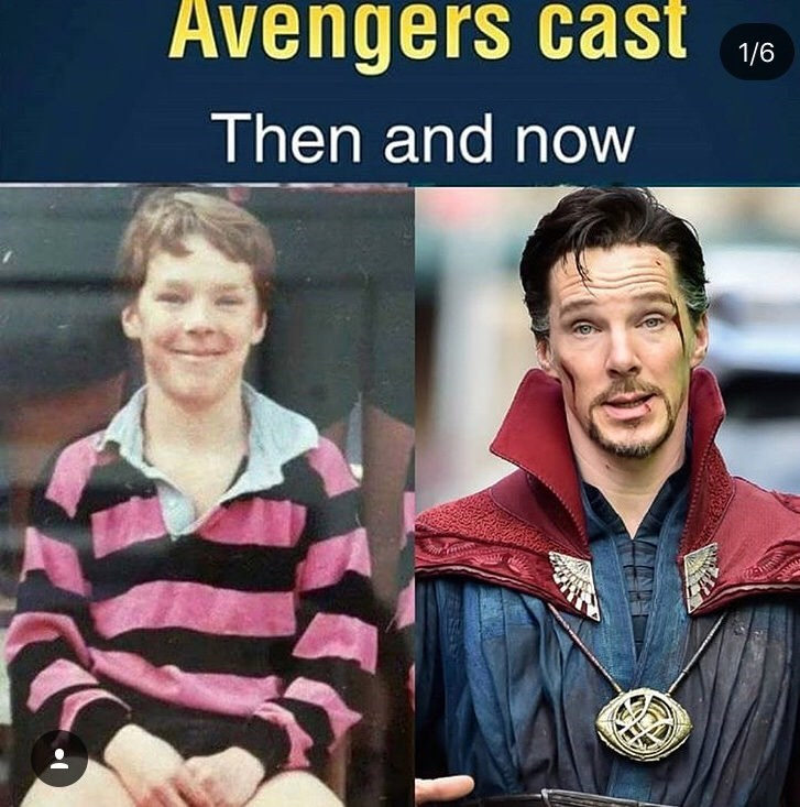 Benedict Cumberbatch now and as a child